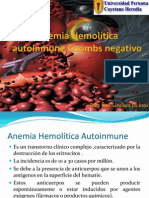 Anemia Hemolítica autoinmune Coombs negativo