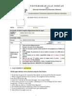 Examen Final de Ingles Ix Marzo 2013[1]