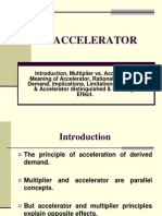 Investment Function - Accelerator