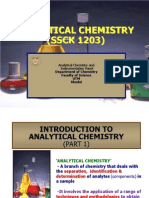 1.1 Introduction of analytical chemistry