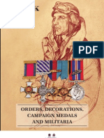 Spink Catalogue of Orders, Decorations, Campaign Medals and Militaria