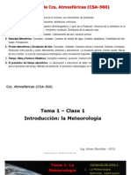 CCs Atmosferica. Introducción