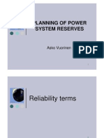 Planning of Power System Reserves