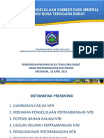 Dinas_Potensi & Pengelolaan SD Mineral NTB