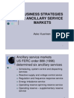 Business Strategies in Ancillary Service Markets