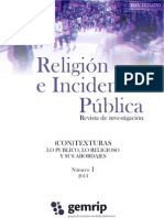 GEMRIP 2013 Religion Incidencia Publica Numero 1