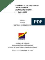 Reglamento Tecnico-Sistema de Acueducto