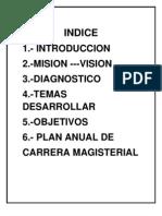 Plan Anual de Trabajo de Carrera Magisterial