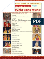 Fremont Temple News Letter, January 2009