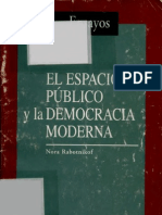 129303124 Nora Rabotnikof El Espacio Publico y La Democracia Moderna