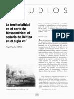 La Territorialidad en El Norte de Mesoamerica - Miguel Aguilar-Robledo