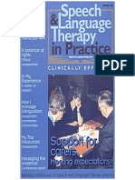 Speech & Language Therapy in Practice, Winter 1999