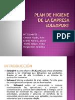 Plan de Higiene de La Empresa SOLEXPORT