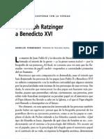 De Cardenal Ratzinger a Benedicto XVI
