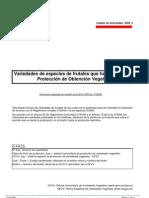 Listado solicitudes Protecciones TOV 2009 2