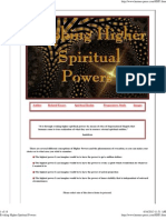 Evoking Higher Spiritual Powers