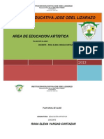Plan Anual de Clase de Educacion Artistica 2013 Rosa Elena Vargas