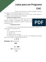 Calculo Para Um Programa Cnc