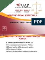 SEMANA 5 DELITOS CONTRA LA ADMINISTRACIÓN PÚBLICA