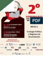 Dossier 2° Seminario Los Marxismos en el Siglo XXI. Mesa 2 Ecología Política y Régimen de Acumulación