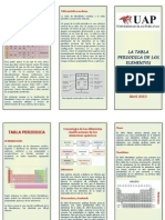 Triptico Tabla Periodica