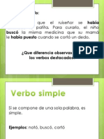 Verbos compuestos y perífrasis verbal