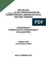 PLAN DE CURSO DE FORMACIÓN DE FORMADORES - Quito