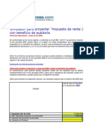 Simulador Beneficio de Auditoria 2006