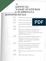 Koeficijenti Za Odredjivanje Statickih Uticaja Elemenata