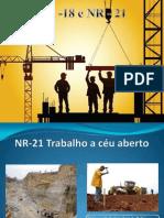 NR-18 Condições e meio ambiente de trabalho na