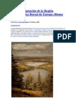 Suelos y Vegetación de la Región Biogeográfica Boreal de Europa TAIGA