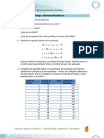 EA. Sistemas de Ecuaciones Lineales