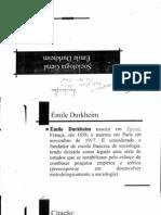 Emile Durkheim - Sociologia Geral