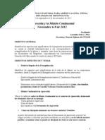 2012 Aparecida y la MISIÓN CONTINENTAL DiploMisionología