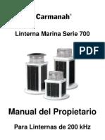 Manual Linternas Marinas serie 700 Español