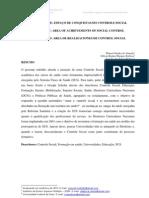 ESPAÇO DE CONQUISTAS DO CONTROLE SOCIAL