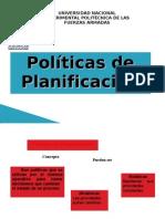Politicas de Planificación