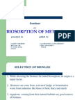 Seminar on Biosorpfgtion of Metals