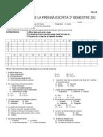 La Prensa Escrita Prueba 2010 Fila b