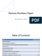 Ramsey Numbers Paper -- PowerPoint Outline