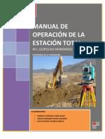 MANUAL DE OPERACIÓN DE LA ESTACIÓN TOTAL