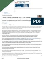 Climate Change Commission Gets a Cold Shoulder