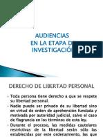 AUDIENCIAS EN LA ETAPA DE INVESTIGACIÓN