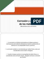 Corrosión y deterioro de los materiales - MCV