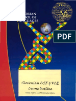 8.9. Slovenian CSF & VCE Course Outline 2003