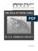 Think Tanks and Policy