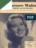 Tennessee Waltz Original Sheet Music