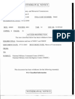 T8 B7 NMCC Briefing Tour Fdr- 3 Withdrawal Notices Re NMCC and NMJIC Notes, Memo and Draft- Classified