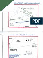 T8 B16 Otis- Langley and AF1 Fdr 2 of 2- Radar Maps- AA 77- C130- UA 93 and AF One