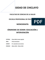 Monografia Sindrome Dawn